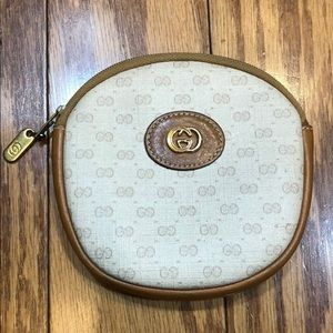 Vintage Gucci Round Coin Purse-1980's